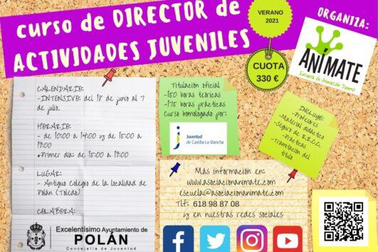 Cartel curso de director de actividades juveniles Polan